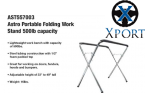 Astro Portable Folding Work Stand - 500lb Capacity